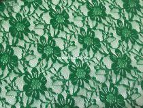 Гипюр стрейч (дешевый) диз2. цвет т. зеленый №7