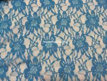 гипюр стрейч диз2. цвет бирюза голубая №11