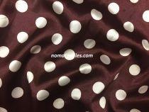 Атлас горох(коричневый-белый)20мм