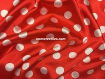 Атлас горох(красный-белый)20мм