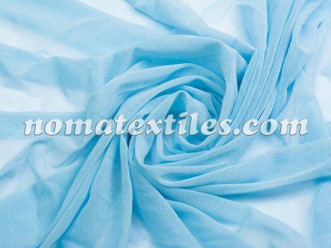 Стрейч  сетка ( голубой )
