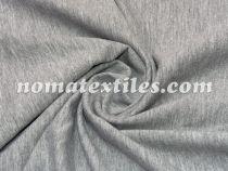 Трикотаж двунитка пенье (серый меланж)