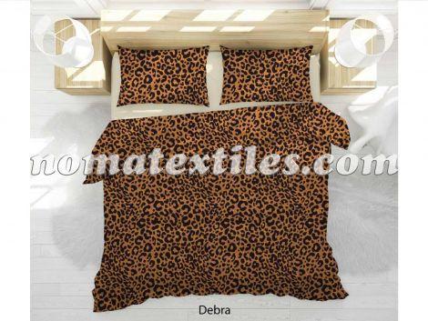 Сатин постельный принт леопард
